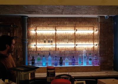 Commercial light installation